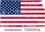 grunge usa flag.vector american ... | Shutterstock .eps vector #723325516