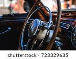 retro car  vintage steering... | Shutterstock . vector #723329635