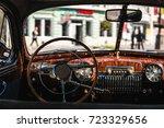 Retro Car  Vintage Steering...
