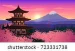 illustration with an asian... | Shutterstock .eps vector #723331738