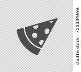pizza slice vector icon eps 10. ... | Shutterstock .eps vector #723334696