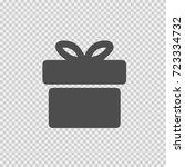 gift vector icon eps 10. simple ... | Shutterstock .eps vector #723334732