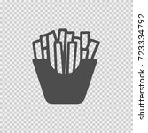 french fries vector icon eps 10.... | Shutterstock .eps vector #723334792