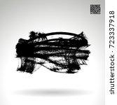 black brush stroke and texture. ... | Shutterstock .eps vector #723337918