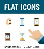flat icon sandglass set of...