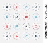 set of 16 editable motel icons. ...