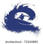 surfer in tube | Shutterstock .eps vector #72334885