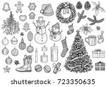 christmas collection ...   Shutterstock .eps vector #723350635