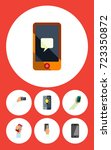 flat icon touchscreen set of... | Shutterstock .eps vector #723350872