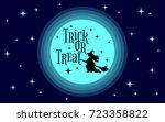 trick or treat. halloween... | Shutterstock .eps vector #723358822