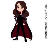 cute vampire girl vector... | Shutterstock .eps vector #723374206