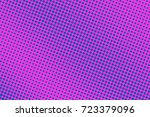pink and cyan abstract halftone ... | Shutterstock .eps vector #723379096
