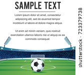 soccer background fro text and... | Shutterstock .eps vector #723379738