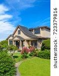 luxury house in vancouver ... | Shutterstock . vector #723379816