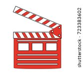 clapperboard cinema icon image  | Shutterstock .eps vector #723383602