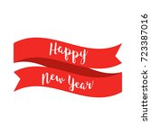 happy new year text with red... | Shutterstock .eps vector #723387016