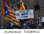 barcelona  catalonia  spain ... | Shutterstock . vector #723389512