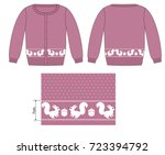 technical sketche of cardigans... | Shutterstock .eps vector #723394792