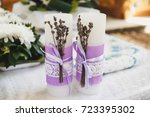 Wedding Candles With Lavender...