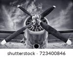 propeller of an biplane | Shutterstock . vector #723400846