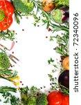 beautiful fresh vegetable frame.... | Shutterstock . vector #72340096