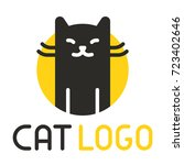 black cat logo. vector... | Shutterstock .eps vector #723402646