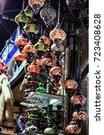 arabic turkish lantern hanged... | Shutterstock . vector #723408628