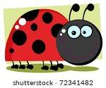 ladybug cartoon character with...   Shutterstock . vector #72341482