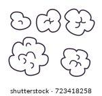 popcorn line icons set | Shutterstock .eps vector #723418258