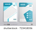 business brochure cover mockup... | Shutterstock .eps vector #723418336