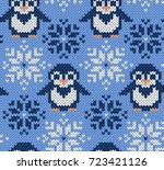 penguin jacquard knitted...