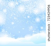snow and winter background... | Shutterstock .eps vector #723424906