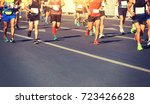 marathon running race | Shutterstock . vector #723426628