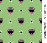 seamless geometrical pattern... | Shutterstock .eps vector #723434746