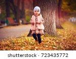cute fashionable baby girl... | Shutterstock . vector #723435772