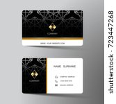 modern business card template... | Shutterstock .eps vector #723447268