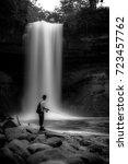 minnehaha falls in minneapolis  ... | Shutterstock . vector #723457762