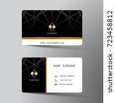 modern business card template... | Shutterstock .eps vector #723458812