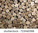 wooden texture background | Shutterstock . vector #723460588