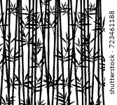 bamboo background. vector | Shutterstock .eps vector #723461188