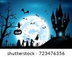 illustration blue background... | Shutterstock .eps vector #723476356