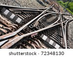 Close Up Of The Railway Tracks...
