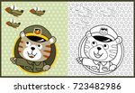 vector cartoon of animal...   Shutterstock .eps vector #723482986