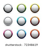 shiny round icons | Shutterstock .eps vector #72348619