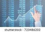 analysing illustrated chart... | Shutterstock . vector #723486202
