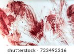 blood and bloody marks in old... | Shutterstock . vector #723492316