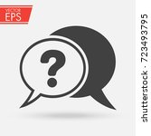 chat  question icon. cloud ask... | Shutterstock .eps vector #723493795