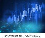 financial graph on technology... | Shutterstock . vector #723495172