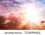 sunrise cloudy sky bokeh. ... | Shutterstock . vector #723499402