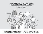 flat line vector editable... | Shutterstock .eps vector #723499516